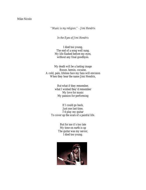 Jimi Hendrix Poem