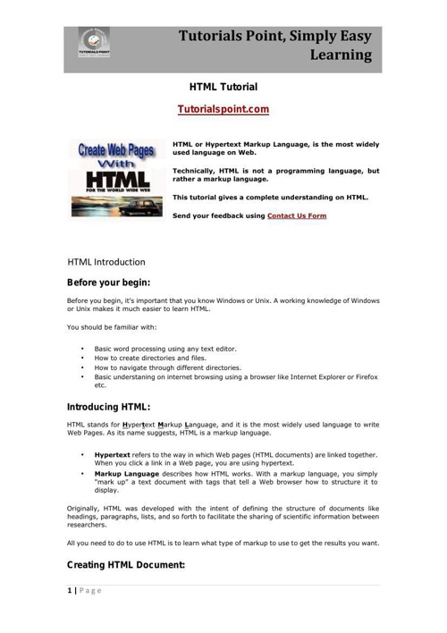 HTML INDEED