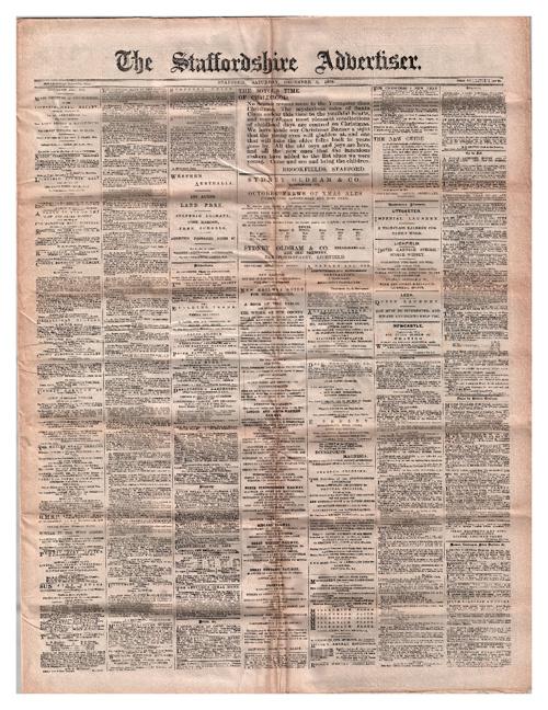Staffordshire Advertiser December 8th 1906