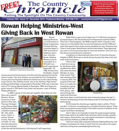 Country Chronicle - December 2015