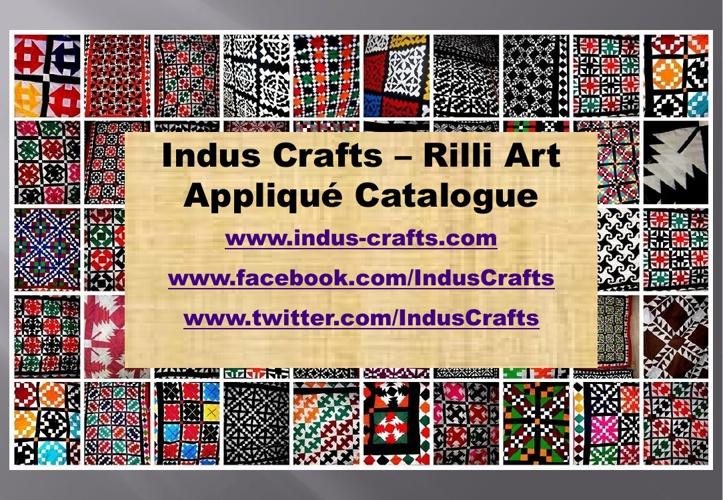 Indus Crafts - Applique Rilli Catalogue