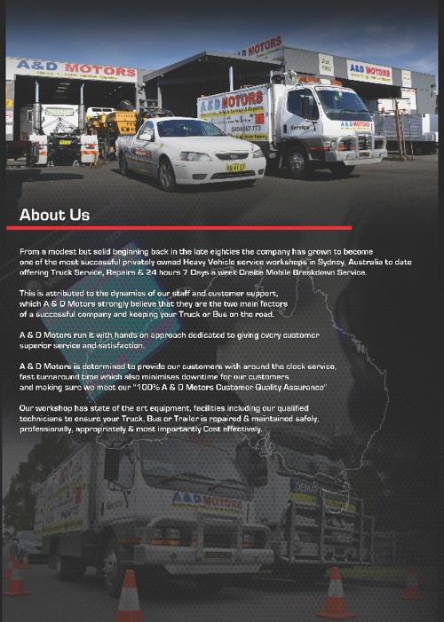 Copy of A & D Motors ~ Heavy Vehicle Repairs, Service & Maintena