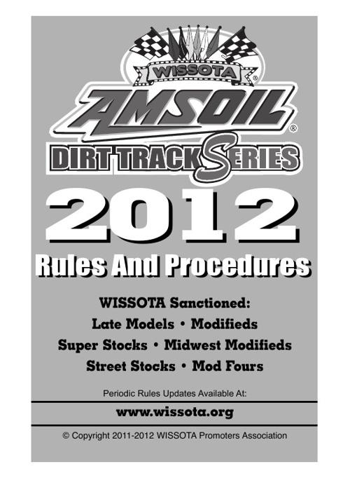 Dirt Track Racing Rule Book