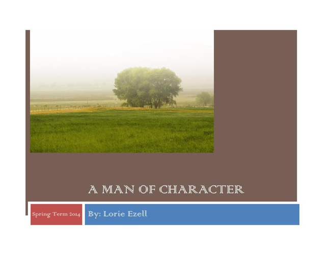 a Man of character.pdf2014
