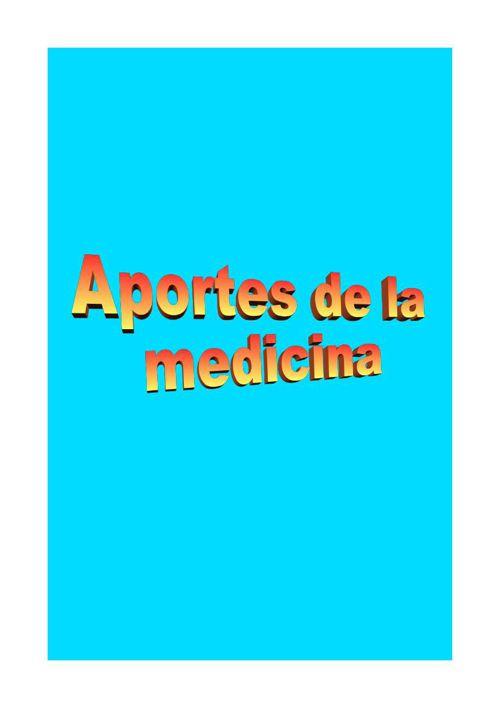 aportes de la medicina