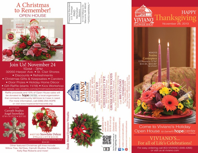 Viviano's Thanksgiving 2013 Catalog