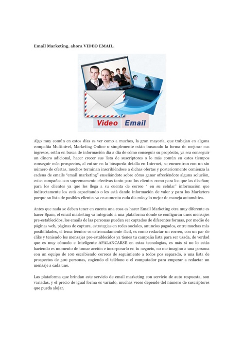 La importancia del email marketing ahora video email
