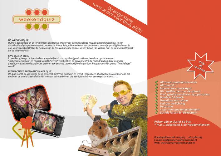 Kamer van Feesthandel - Feestgids - Prijs op Aanvraag