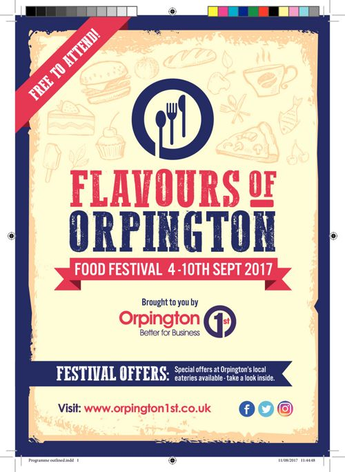 Flavours of Orpington - Food Festival Programme 2017