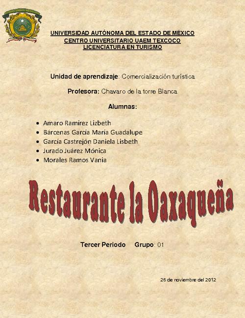 """RESTAURANTE """"LA OAXAQUEÑA"""""""