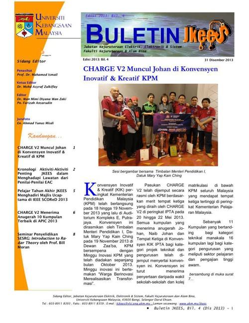 Buletin JKEES Edisi Dis 2013
