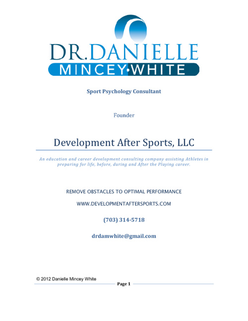 Development After Sports, LLC Overview of Programs
