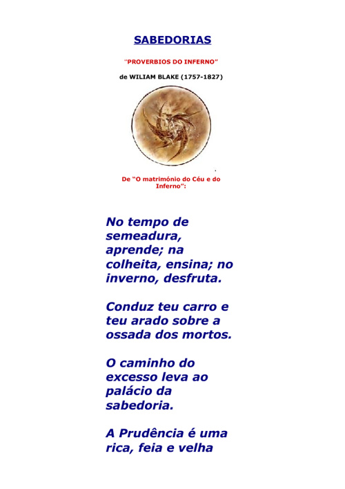 Proverbios do inferno