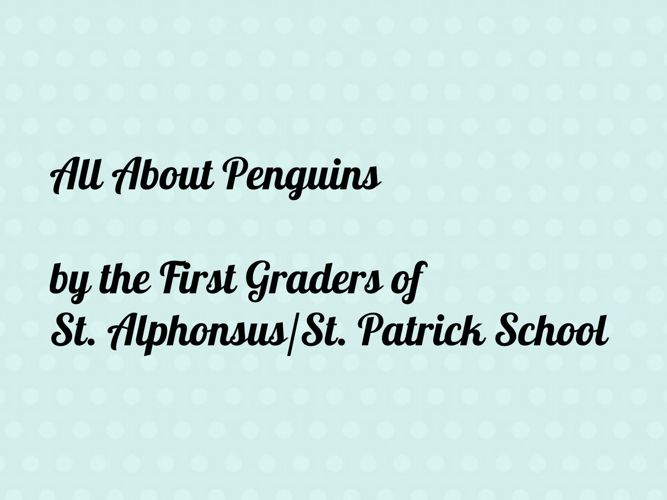 Penguins 2017 by the First Grade