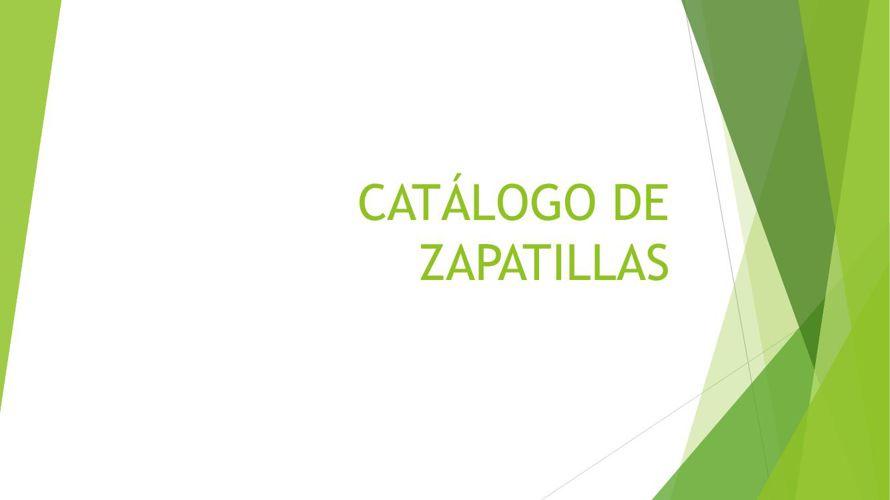 CATÁLOGO DE ZAPATILLAS