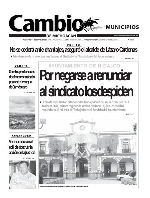 Municipios 14 septiembre