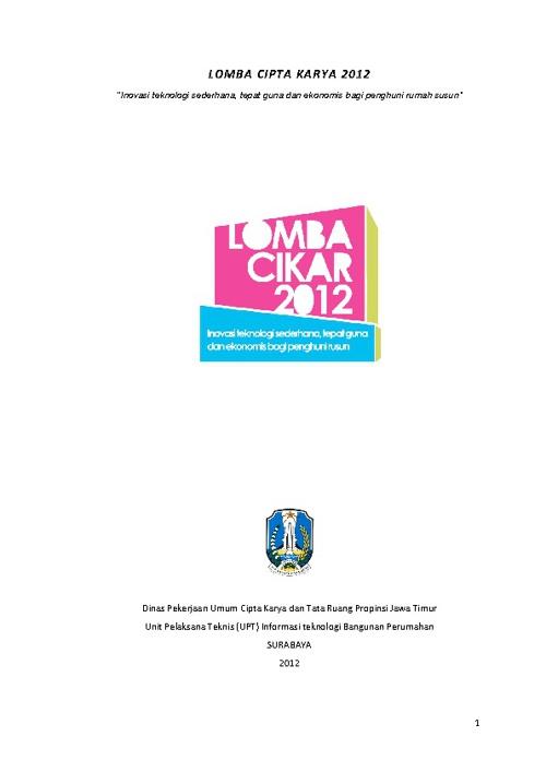 INFORMASI LOMBA CIKAR 2012