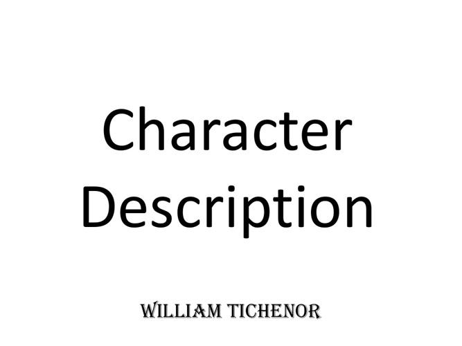 Character Desc.