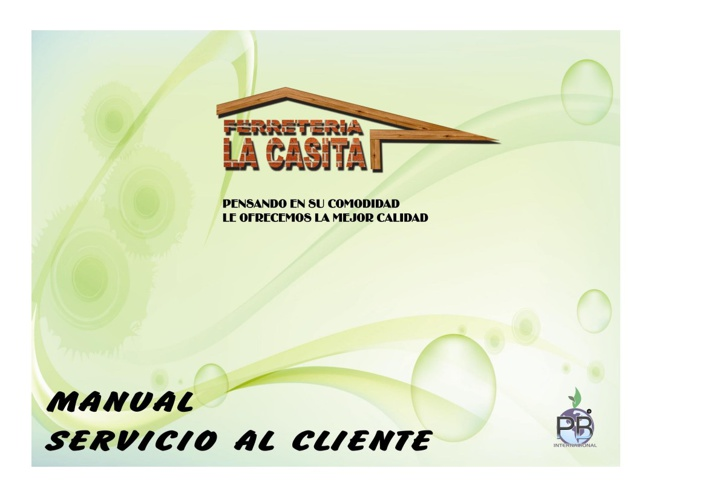 MANUAL SERVICIO AL CLIENTE