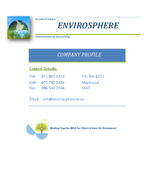 Envirosphere - Company Profile