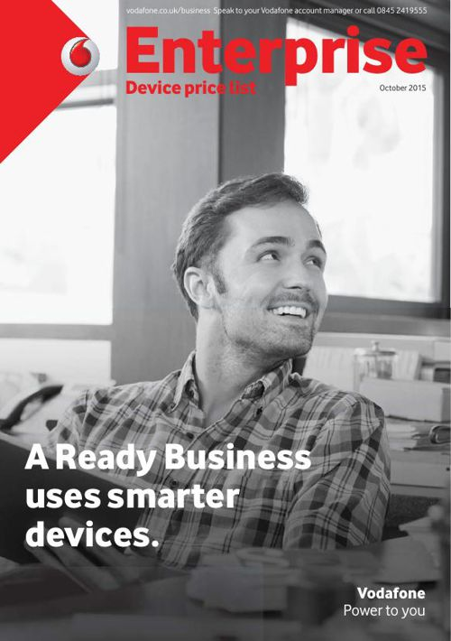 Vodafone Enterprise Device List - singlePR