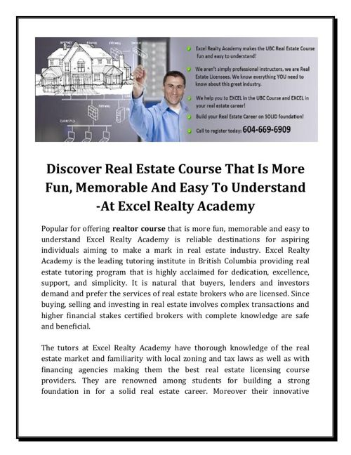 How To Get A Real Estate License In BC
