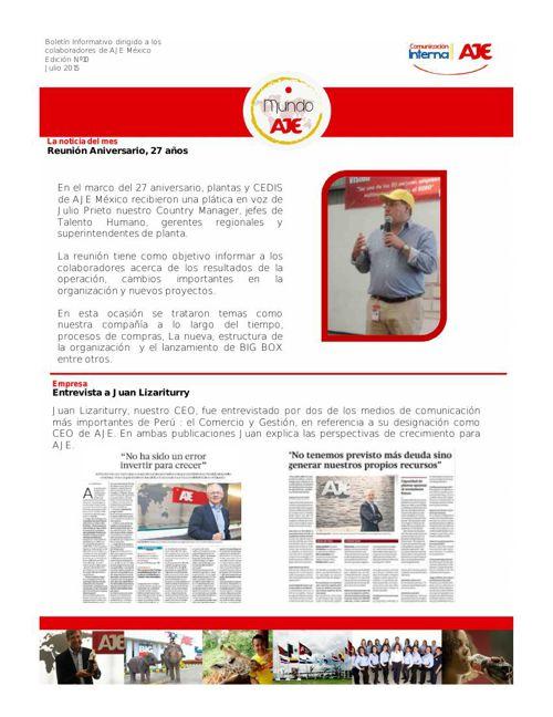Boletín Julio 2015