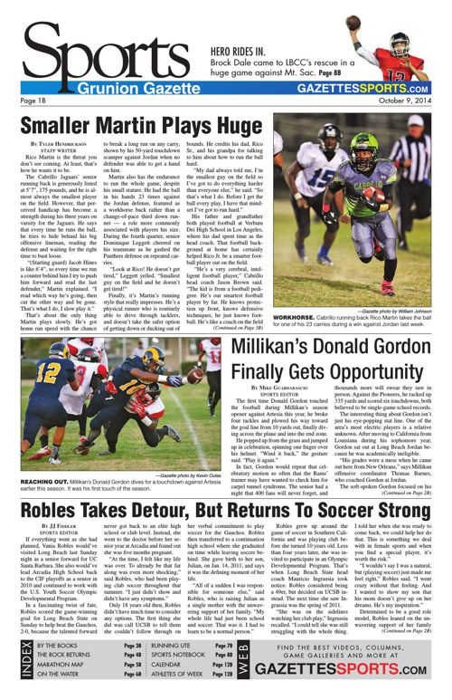 Gazette Sports | October 9, 2014