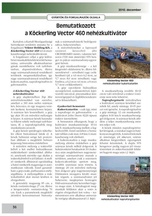 PR-15 AGROFORUM cikk VEKTOR-Köckerling bemutató 2010