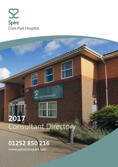 Spire 2017 Consultant Directory - Clare Park