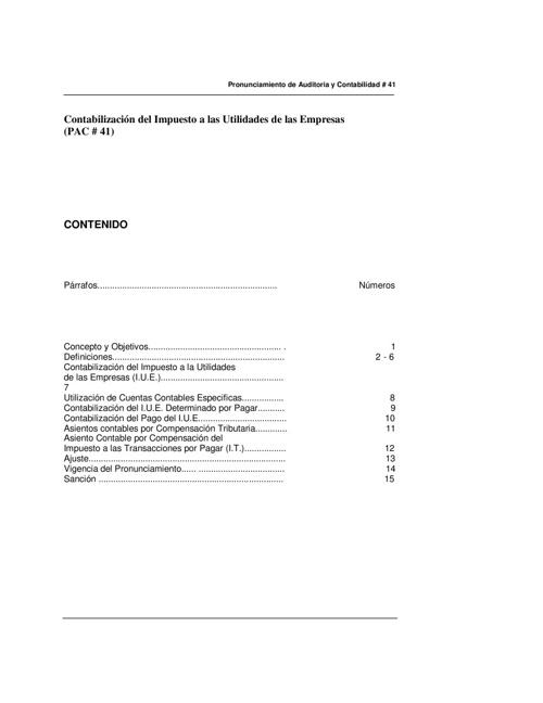 PAC 41 - Contabilización del IUE
