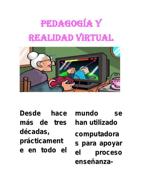 PEDAGOGÍA Y REALIDAD VIRTUAL