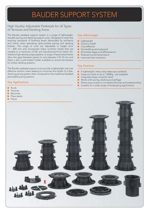 Pedestal Support System - Bauder