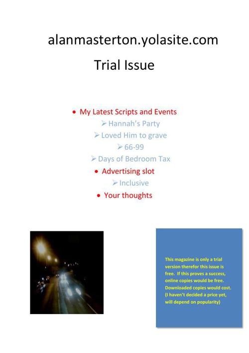 Alan Masterton Magazine Trial