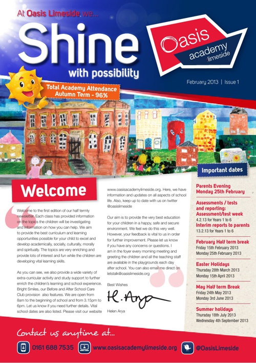 Oasis Academy Limeside Newsletter - Issue 1 - February 2013