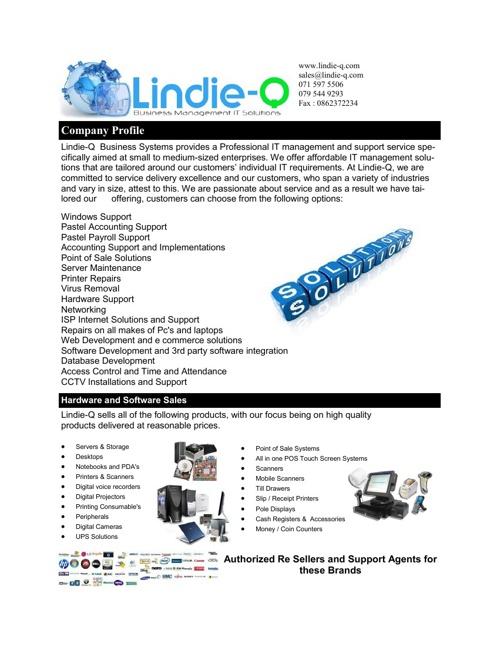 Lindie-Q Business Management IT Solutions Profile