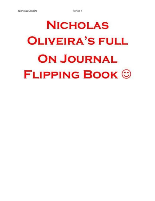 Nicholas Oliveira Flipping Book