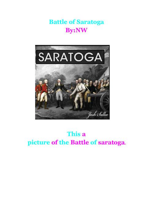 BattleofSaratoga