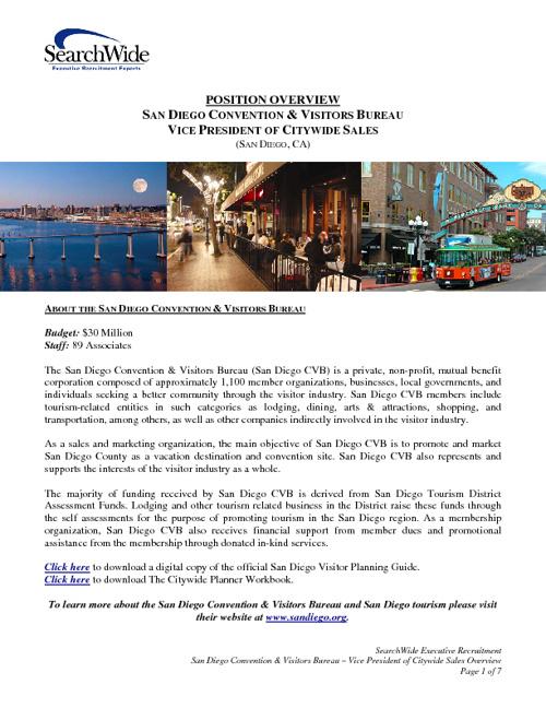 San Diego VP of Citywide Sales