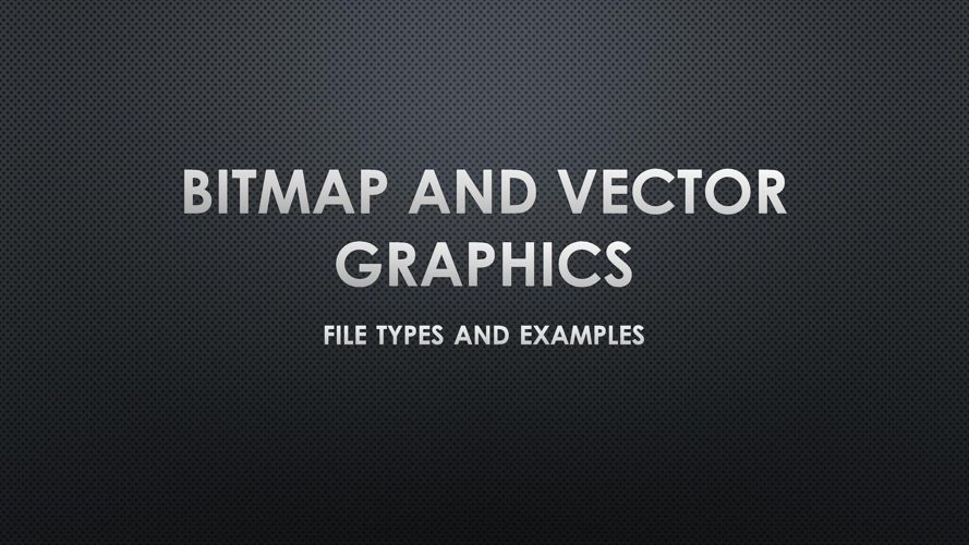 Bitmap and Vector Image Types