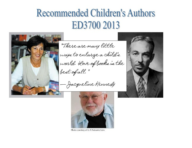 Recommended Children's Authors