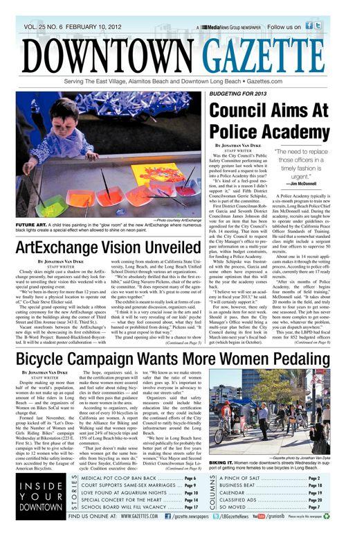 Downtown Gazette  |  February 10, 2012