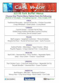 Copy of Our 2014 Menu with group and party options