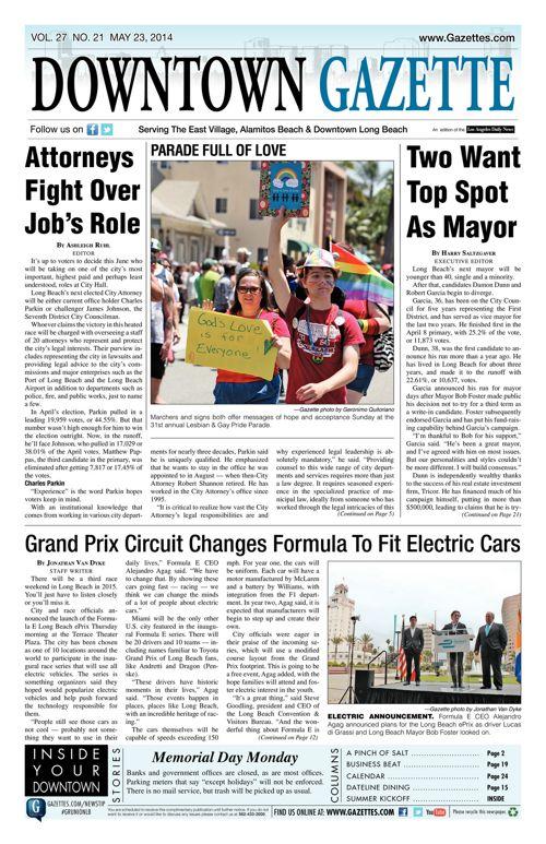 Downtown Gazette     May 23, 2014