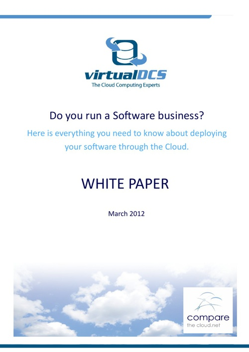 Deploying your software in the cloud - virtualDCS