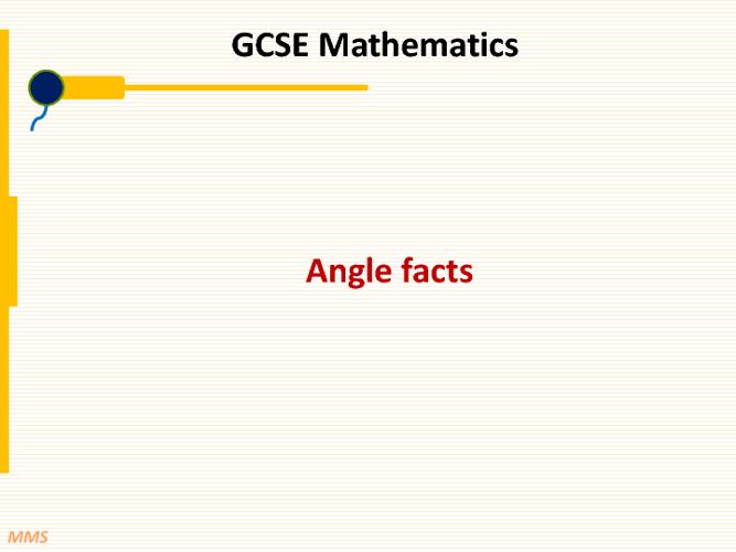 GCSE F Angle facts
