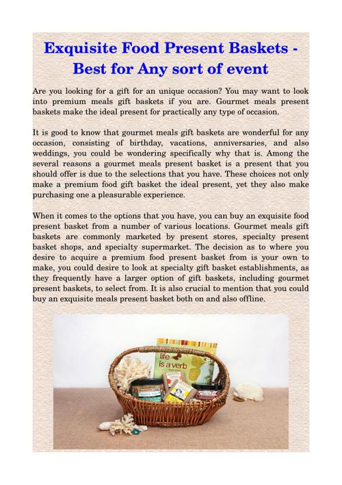 Exquisite Food Present Baskets - Best for Any sort of event