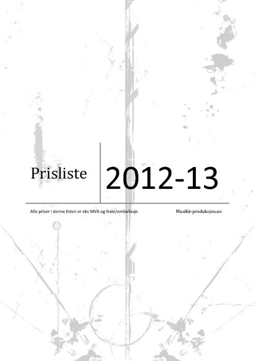 Prisliste 2012-13