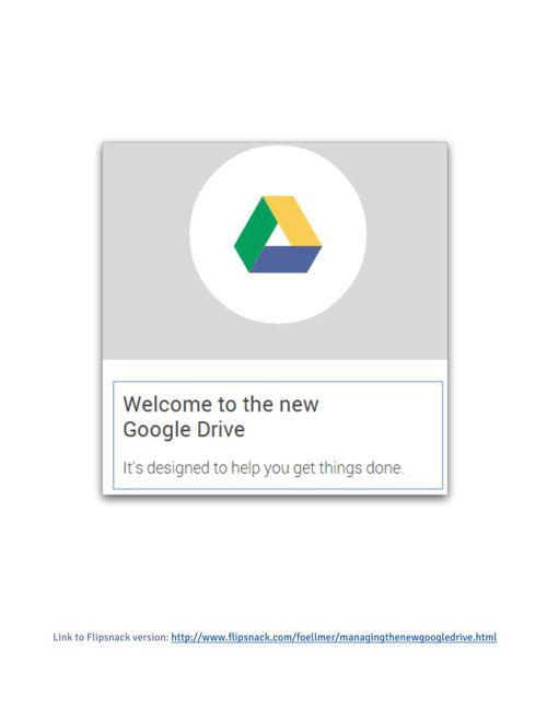 Managing Google Drive