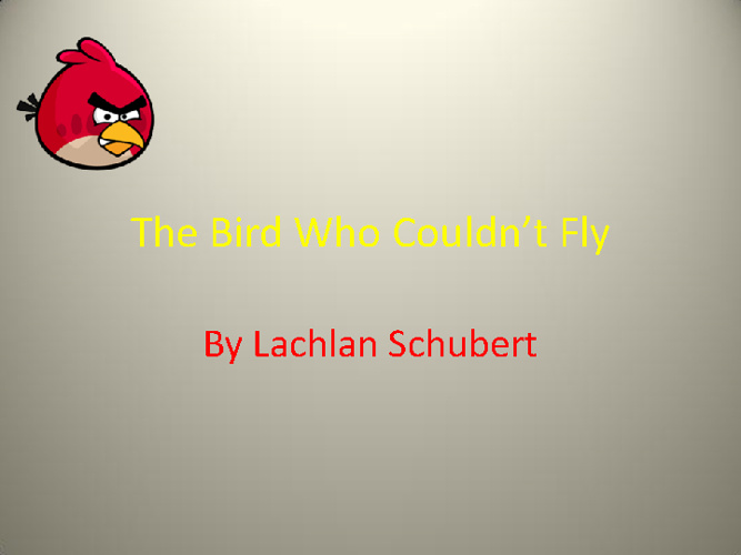 The Bird Who Couldn't Fly